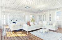 Biały salon w stylu prowansalskim
