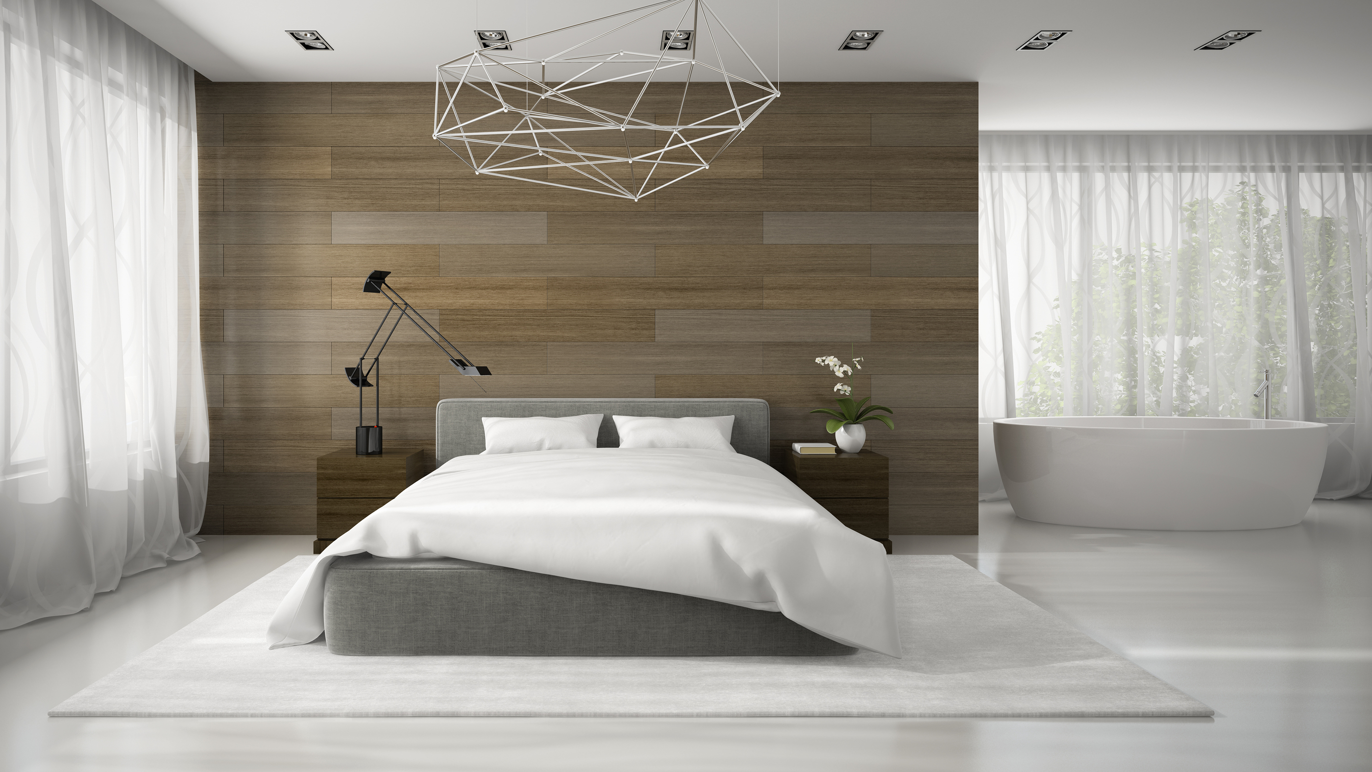 Interior Design Glamour Bedroom
